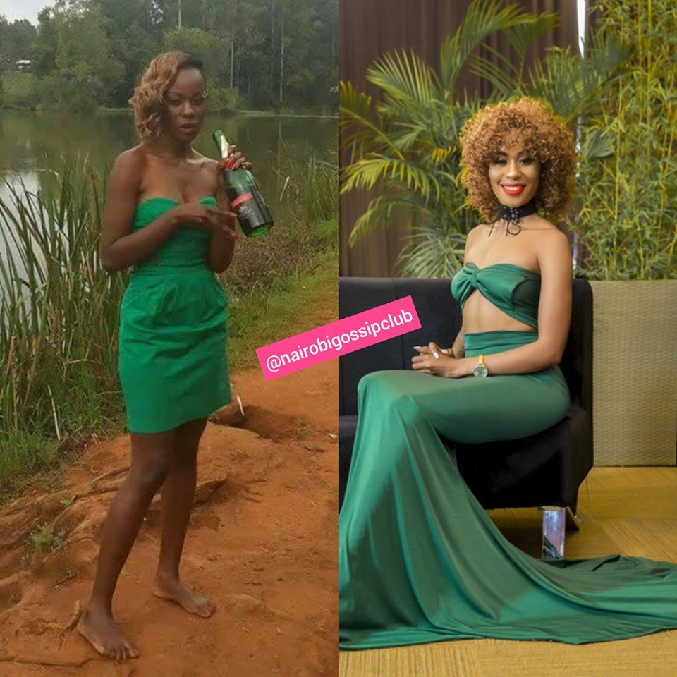 Which female celeb hasn't bleached? Noti Flow's TBT photo leaves Kenyans convinced that Carolite actually works(photo)