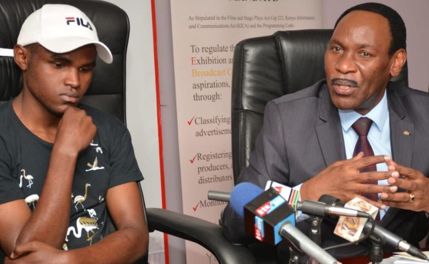 'Taka Taka', 'Kunguni' singer promises to release educative music after meeting with Ezekiel Mutua