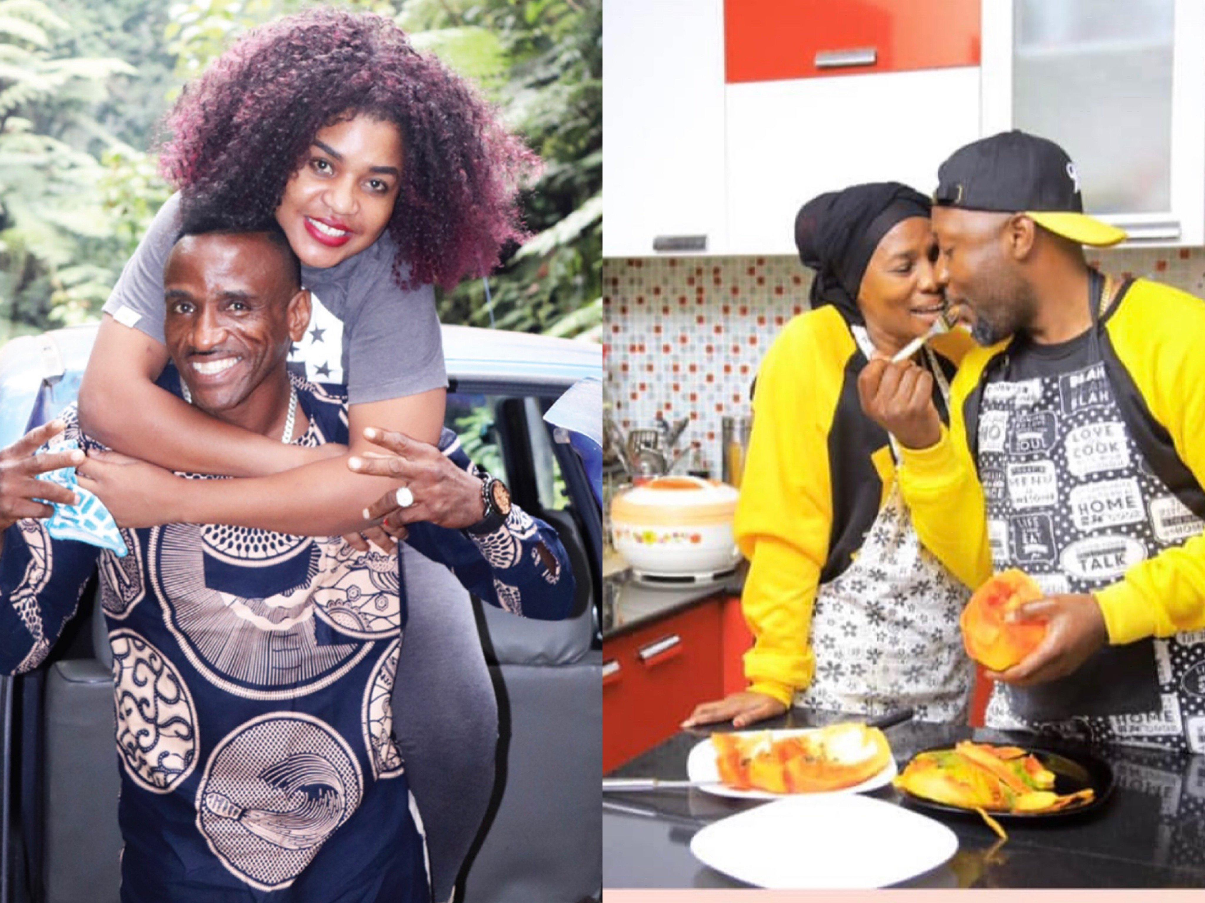 Photos of Baba Diamond Platnumz getting cozy with young Tanzanian actress