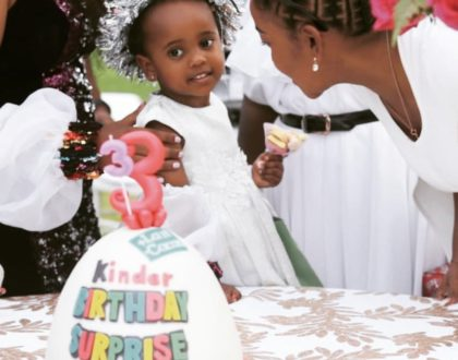 Dj Pierra Makena throws lit party to mark daughter's 3rd birthday! (Photos)