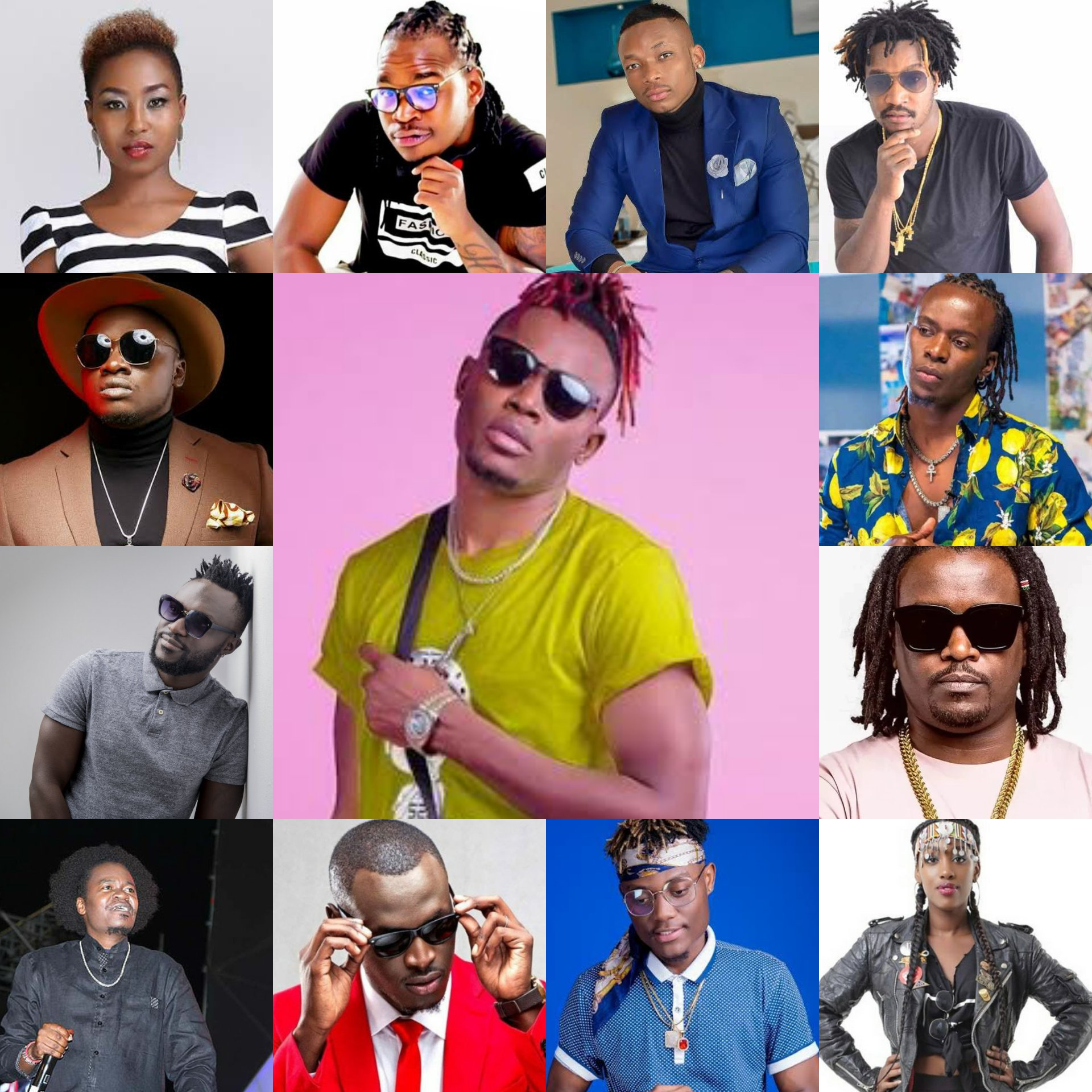 Kenyan artists in one picture. This are the ones that probably are trying.