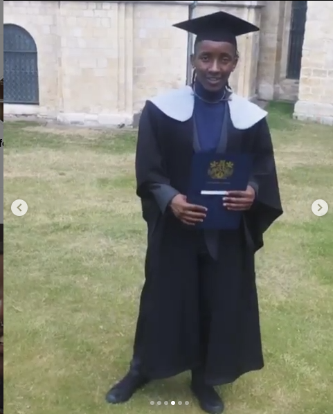 ¨We need to toughen up and keep strong¨ Ian Nene spreads the love after graduating from Kent University, UK