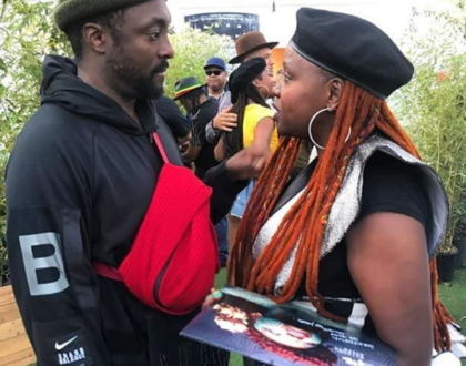 Photos: Muthoni Drummer Queen shares stage with world superstars Black Eyed Peas and David Guetta