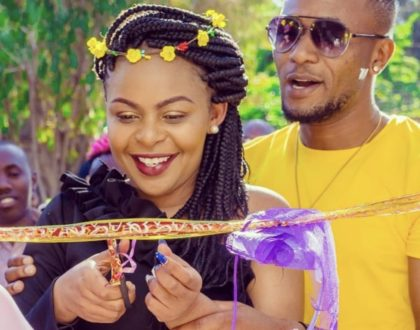 """Unaolewa na DJ ukule mixtape?"" Size 8 laughs off at this statement years after many discouraged her not marry DJ Mo"