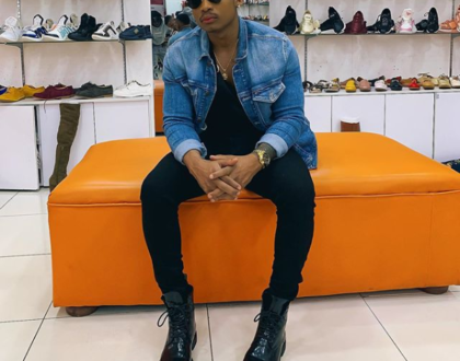 Otile Brown launches second posh shoe collection in Mombasa [videos]