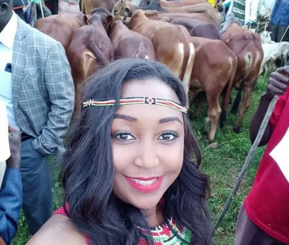 Betty Kyalo rewarded with sweet Pokot name after interviewing West Pokot Governor Lonyangapuo