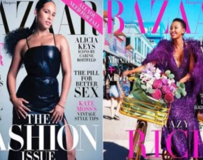 Scam! Huddah photoshopped herself on the cover of Harper Bazaar