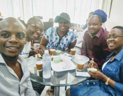 Jimmy Gait visited by Sabina Chege in India where he's undergoing treatment
