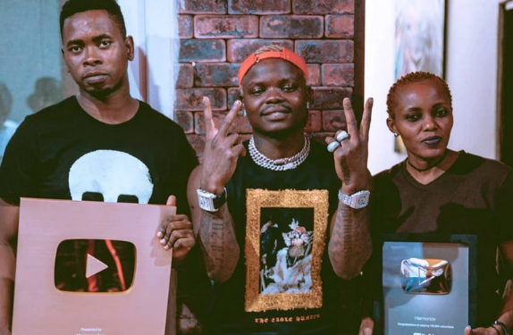 Harmonize honored by YouTube for hitting one million followers