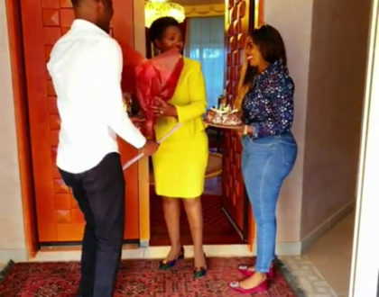 Hakuna kama mama! Anerlisa Muigai and fiance Ben Pol sweetly surprise her mom amidst corruption wrangles [video]