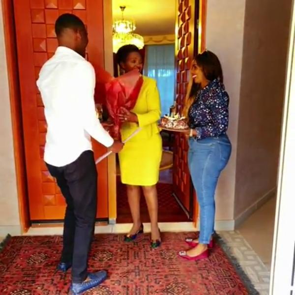 Hakuna kama mama! Anerlisa Muigai and fiance Ben Pol sweetly surprise her mom amidst corruption wrangles [video]