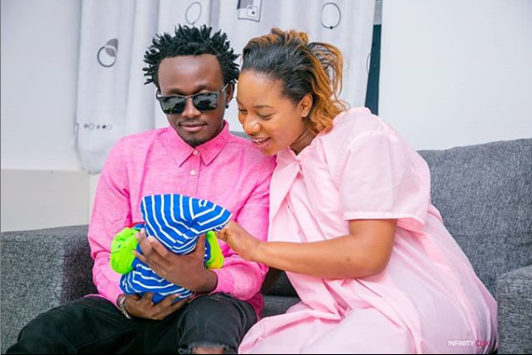 Genes imeweza! Bahati and Diana finally unveil the adorable face of Baby Majesty [photo]