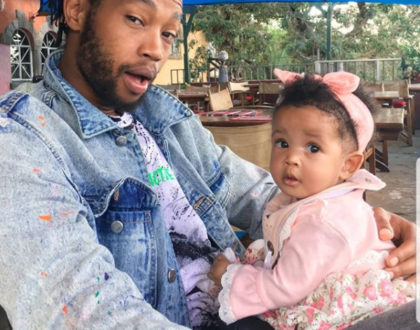 """If my father was half as proud, as I am for just being a dad"" Ephy Saint proudly takes up his father role to daughter with Chantelle Petit"