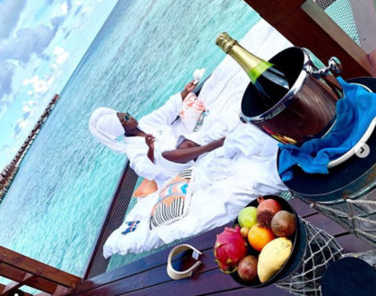 Chop Money! Kate Actress and Phil Karanja jet out for a lavish baby moon in the coveted Maldives Islands [photos]