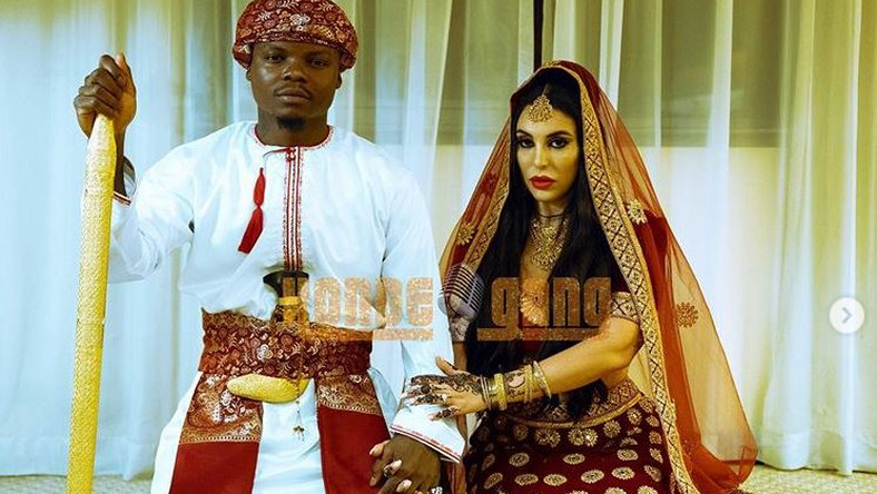 Harmonize weds lover, Sarah in colorful Islam-themed wedding. No WCB member in attendance! [photos]