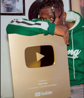 Congratulations! YouTube awards Rayvanny as he hits the 1 Million YouTube subscribers button