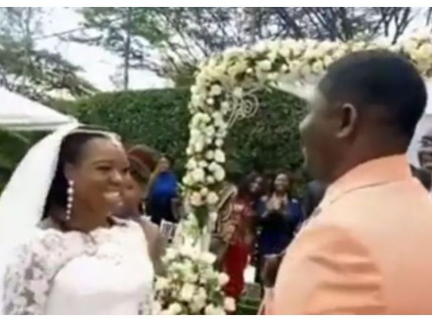Ruth Matete finally walks down the aisle at a colorful wedding ceremony