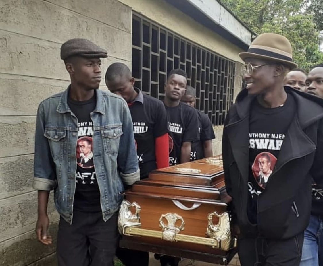 Fly high with the angels! Photos from the late Churchill Show's Njenga Mswahili funeral service