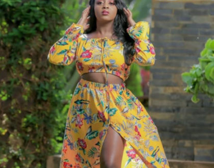 Nadia Mukami fuels pregnancy rumors after showing off round bulging belly