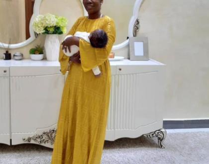 Tanasha Donna allegedly confronts mama Dangote after she refuses her to leave with 4 month old son, Naseeb Junior