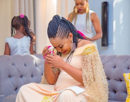 Yummy mummy! Size 8 steps out with her new born for the first time