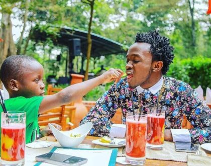 Bahati's moving letter to his eldest son as he turns a year older
