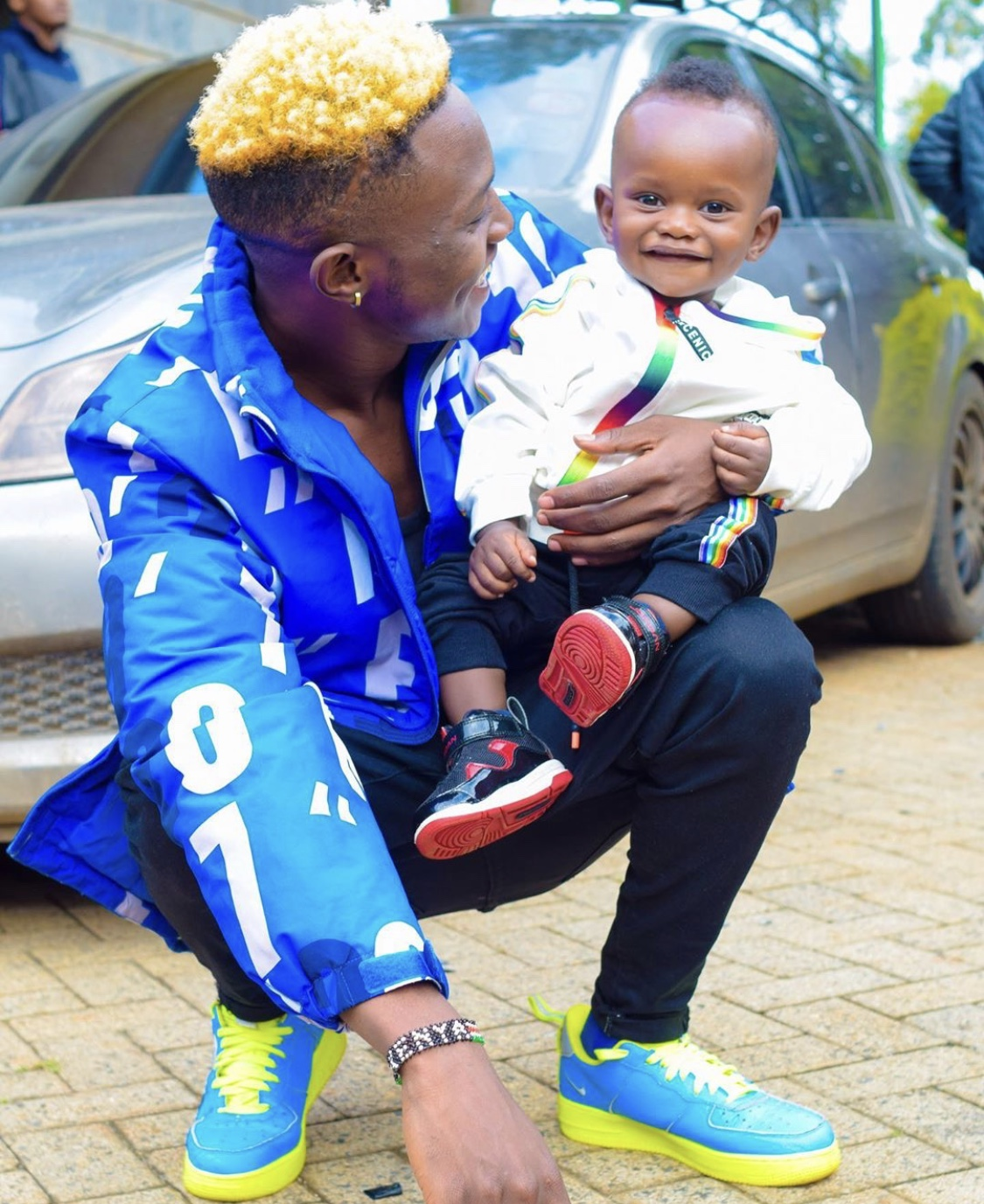 Adorable! Mr Seed and his wife finally unveil their son's face!