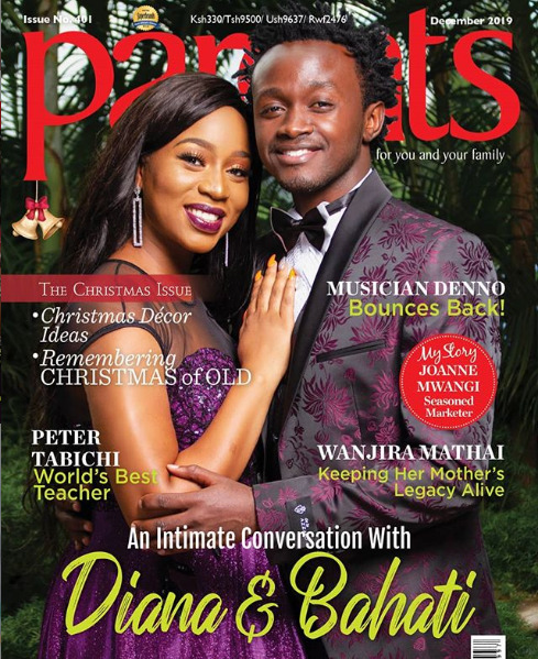 Bahati and Diana Marua on the cover of Parents
