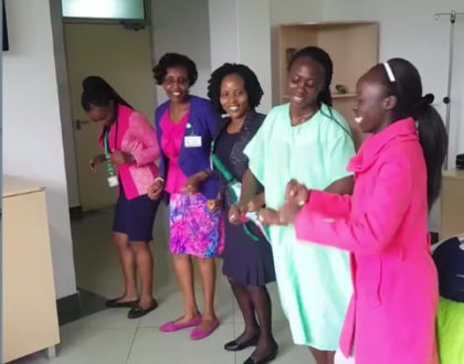 An ´energetic´ Akothee dances and sings to God as she finally gets discharged [videos]