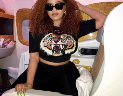 Vera Sidika in a heated debate with fans over her baby´s skin color