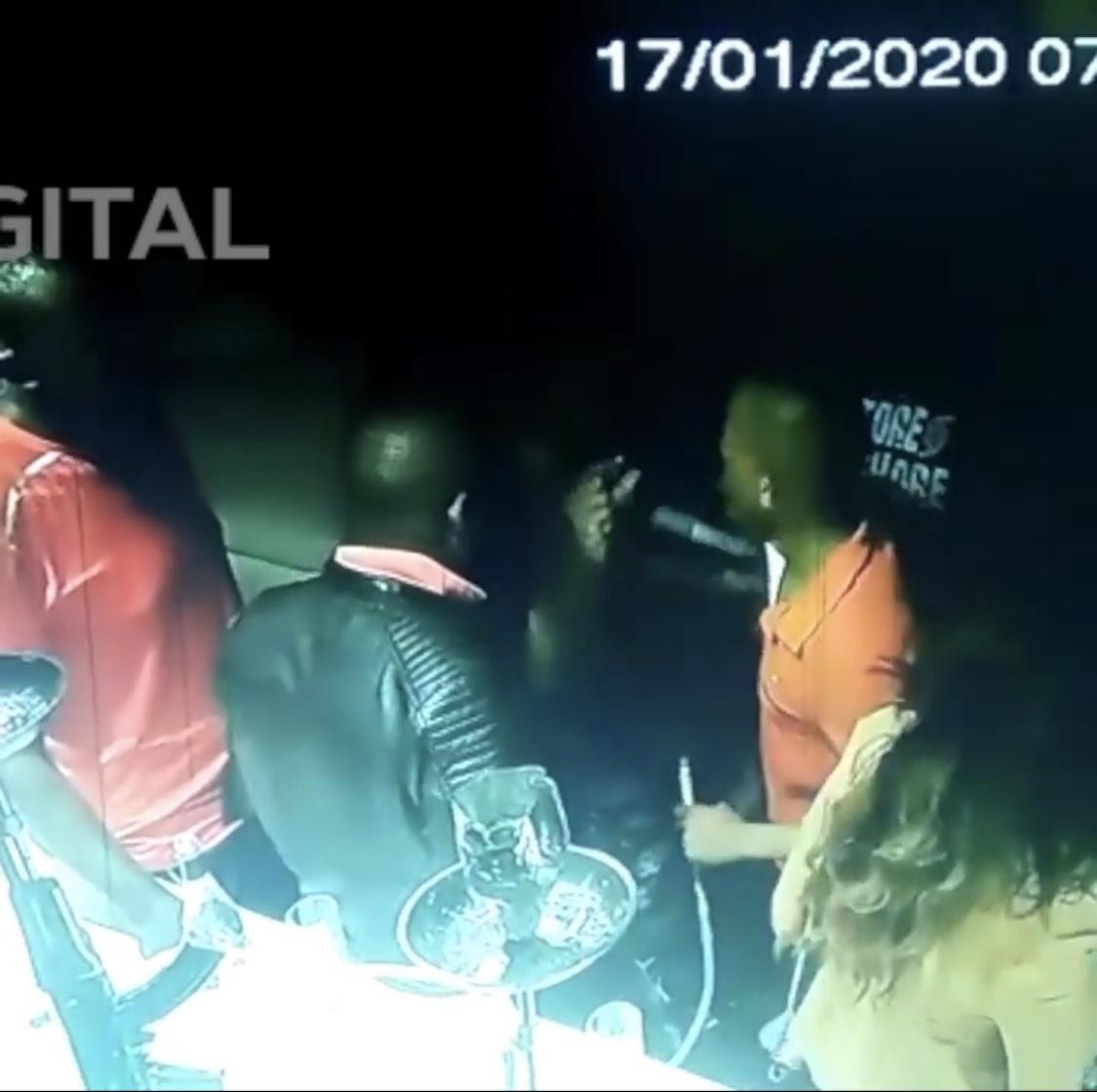 CCTV footage of Babu Owino shooting DJ Evolve emerges online