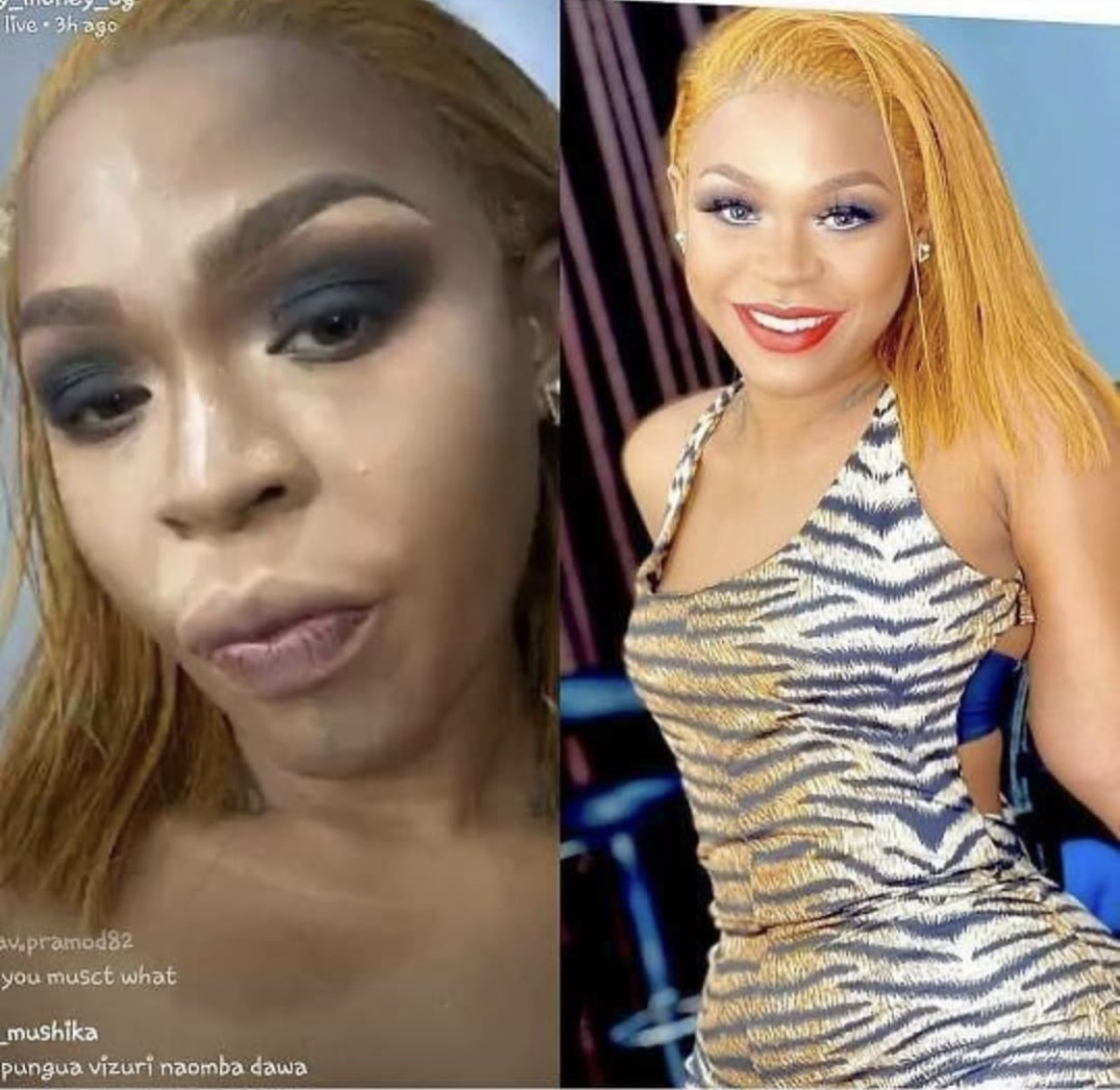 Face beat gone wrong! Fans troll Gigy Money for wearing too much make up!