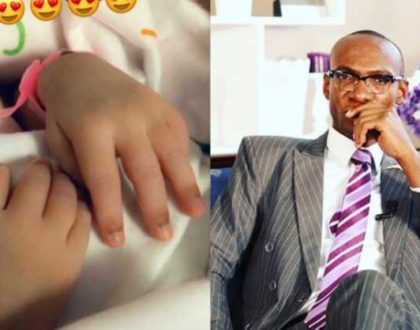 Dr Ofweneke unknowingly introduces his cute babygirl´s face to the world [photos]