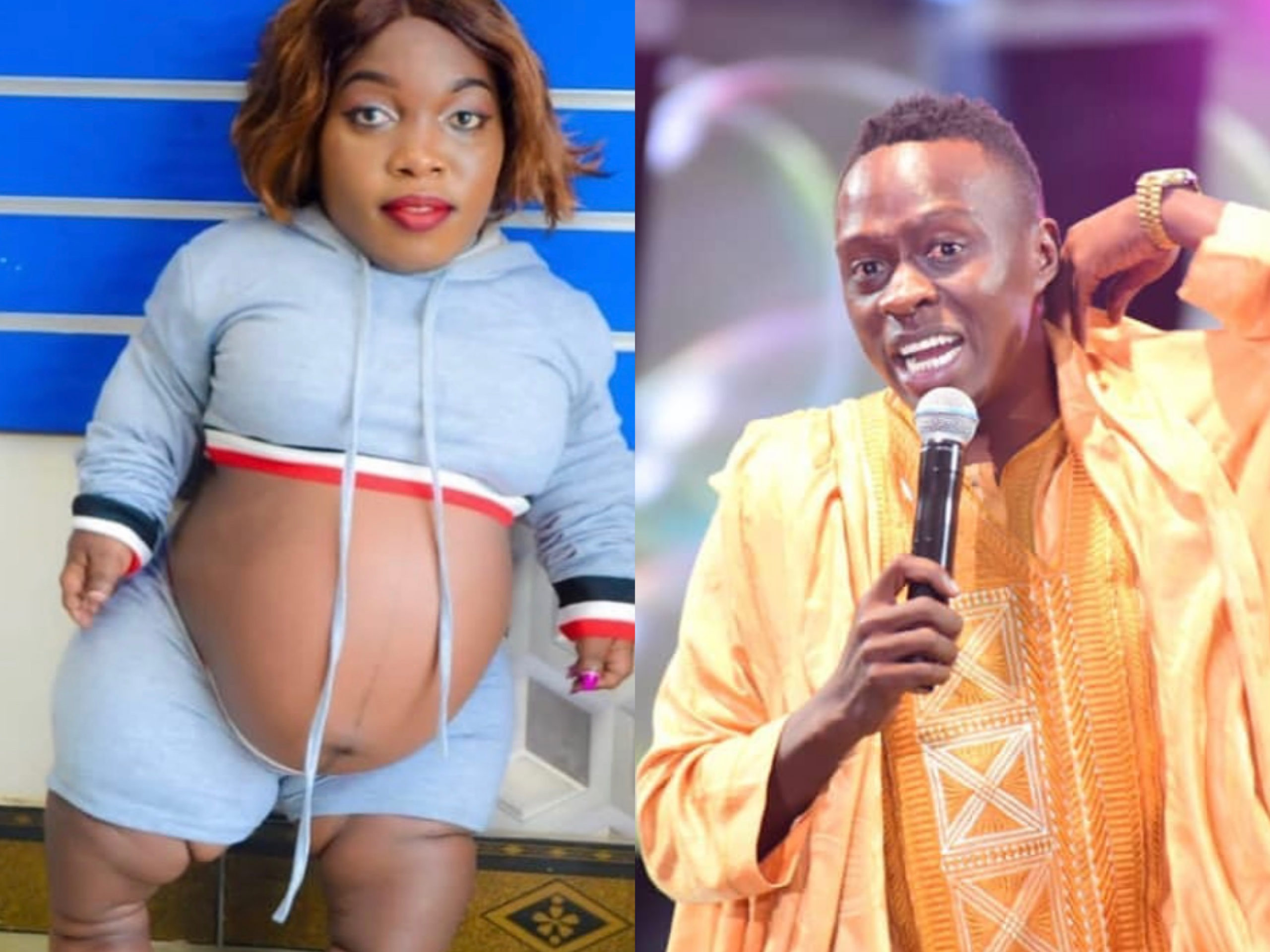 """Let it burn!"" Comedian Obinna unapologetically tells off fans criticizing him for making fun on Actress Tausi"