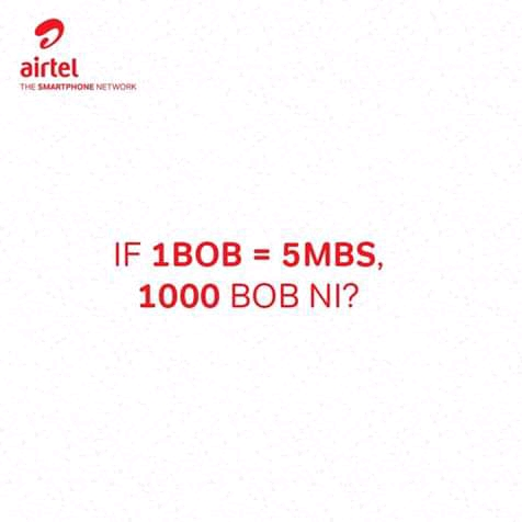 Airtel now shifts all her customers to a simple, no subscription, no Expiry 1 bob per 5mb data rate.