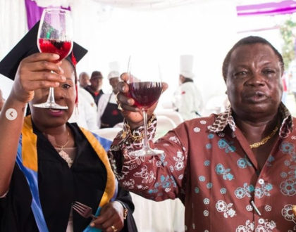 Journalist Mary Kilobi graduates and hubby, Atwoli stops at nothing in cuddling her with love [photos]