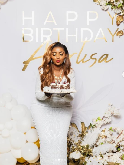 Anerlisa Muigai marks 32nd birthday with pomp and color [videos]