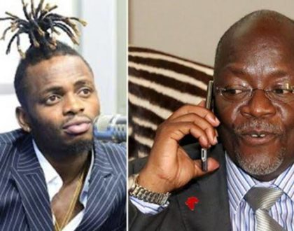 Watch: The moment President Magufuli phoned Diamond Platnumz LIVE during his end-of-year celebrations