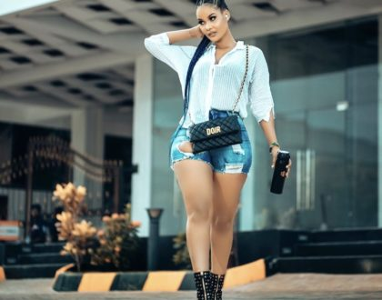 "Tanzanian socialite Hamisa Mobetto trolled for carrying around a fake designer bag ""Doir"""