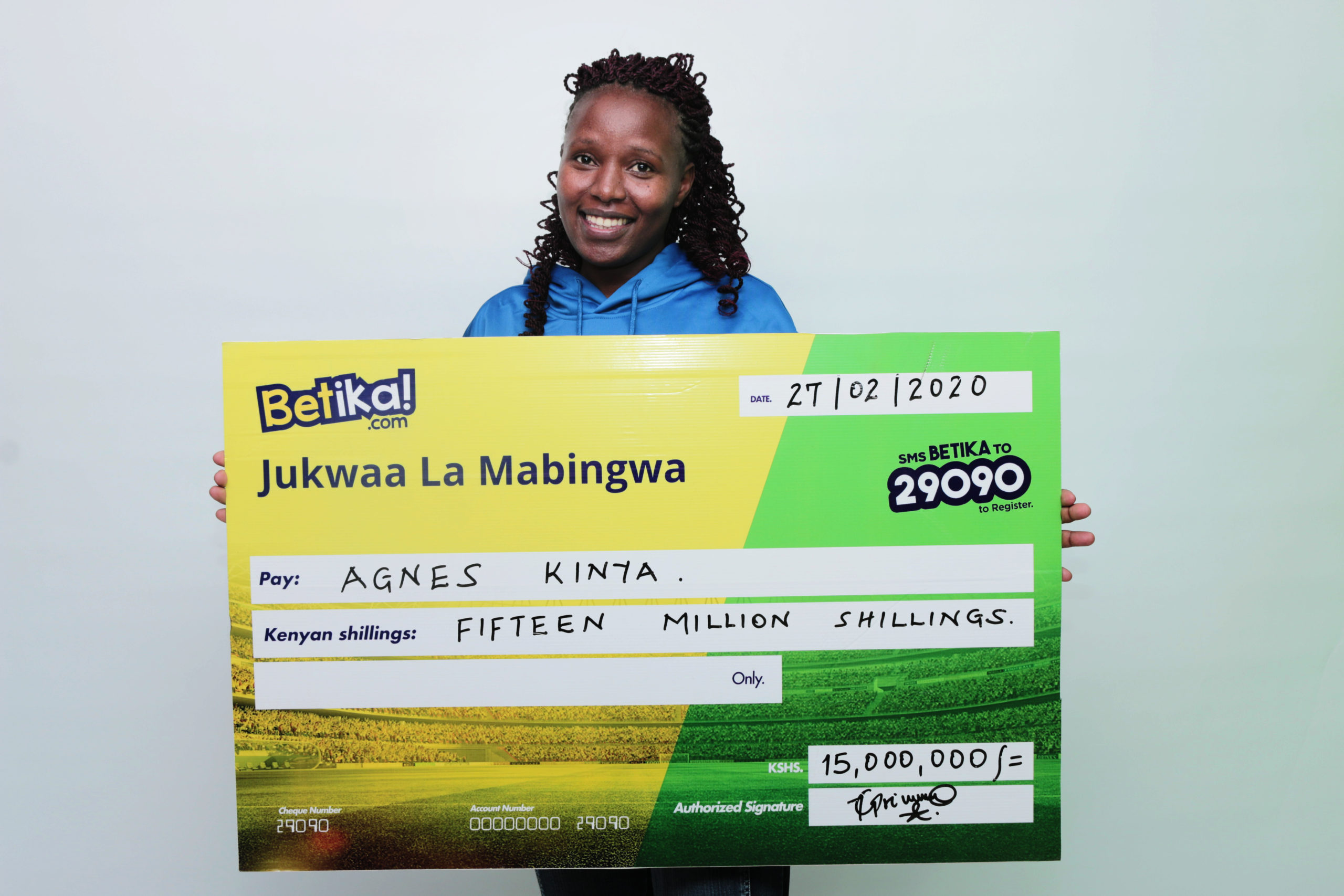 Betika's 15 Million Midweek Jackpot Lady winner!!!