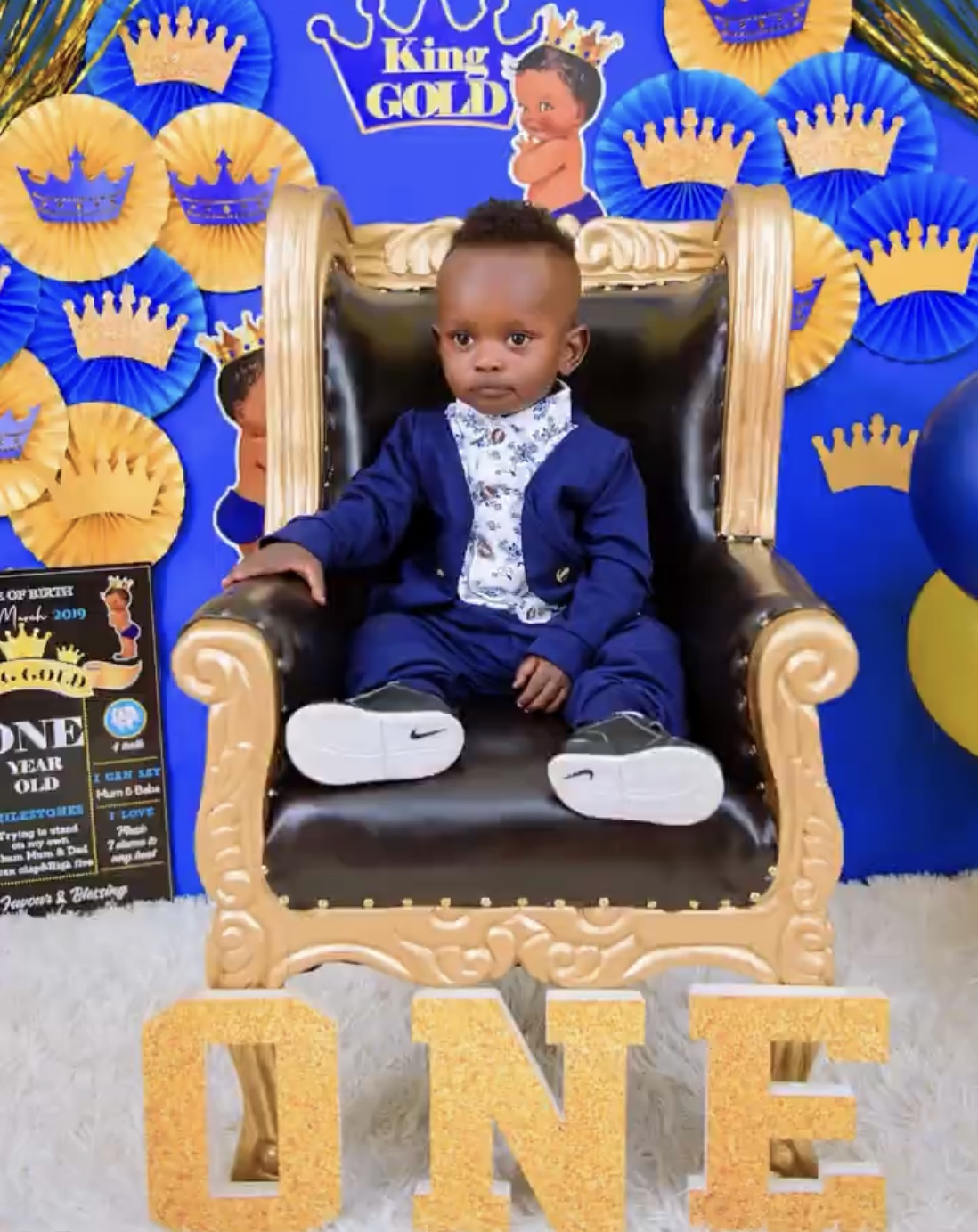 King Gold! Mr Seed and wife celebrate son's 1st birthday