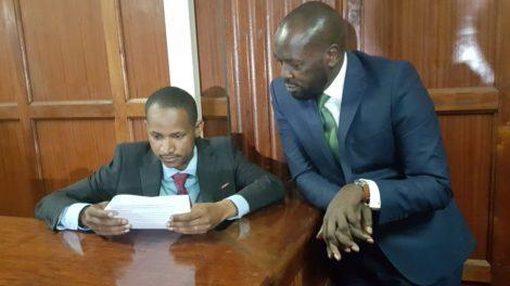 babu owino with his lawyer