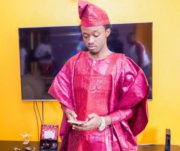 Bahati in Nigerian traditional attire