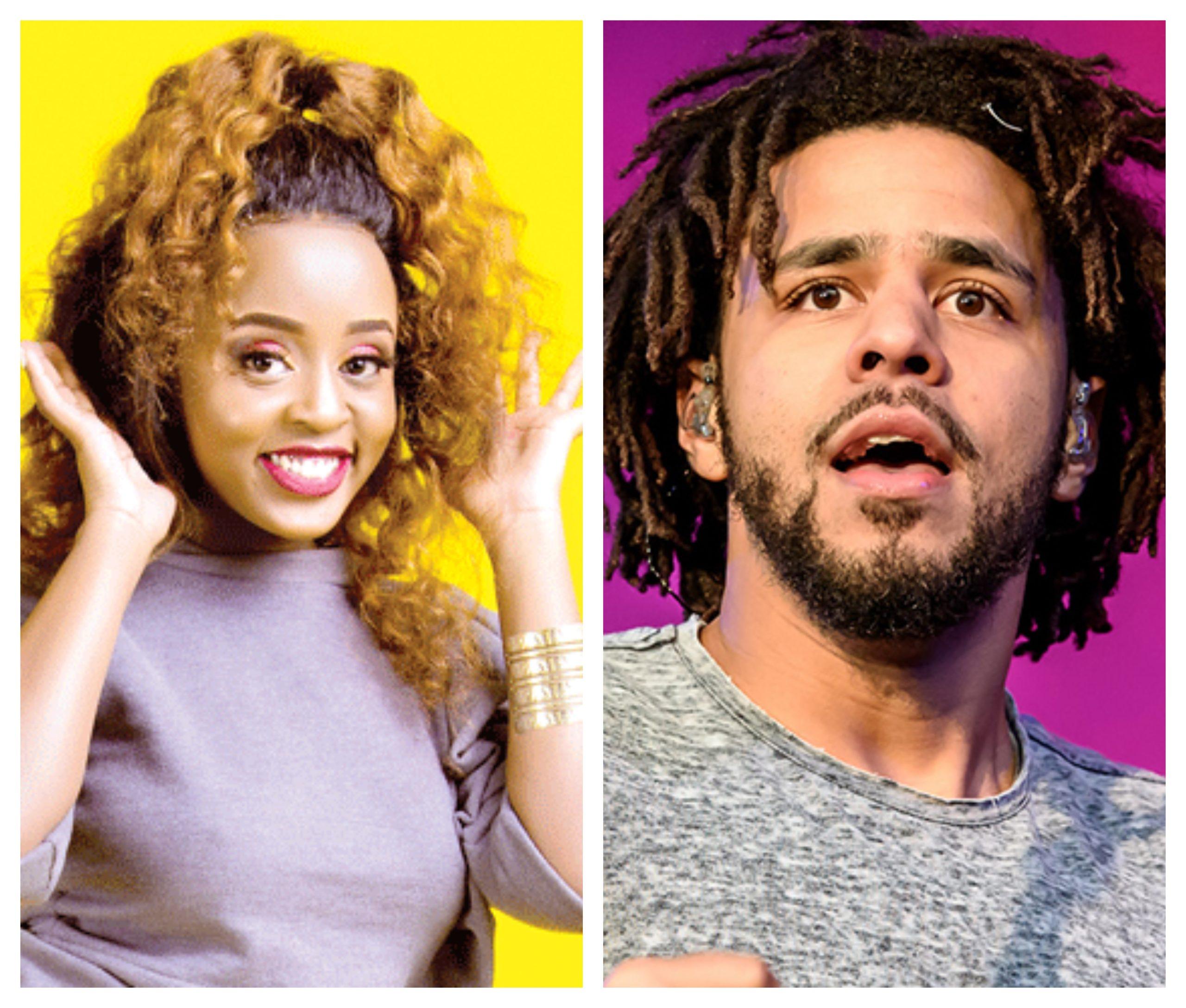 ¨The man who makes my ovaries shake...¨ Nadia Mukami goes gaga over American rapper, J Cole again