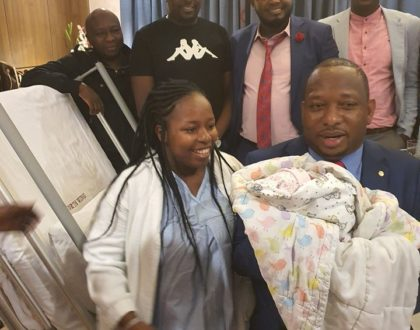 Politician Mike Sonko breaks to tears after welcoming second granddaughter (Photos)