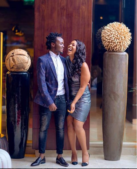 Bahati and Diana Marua pose