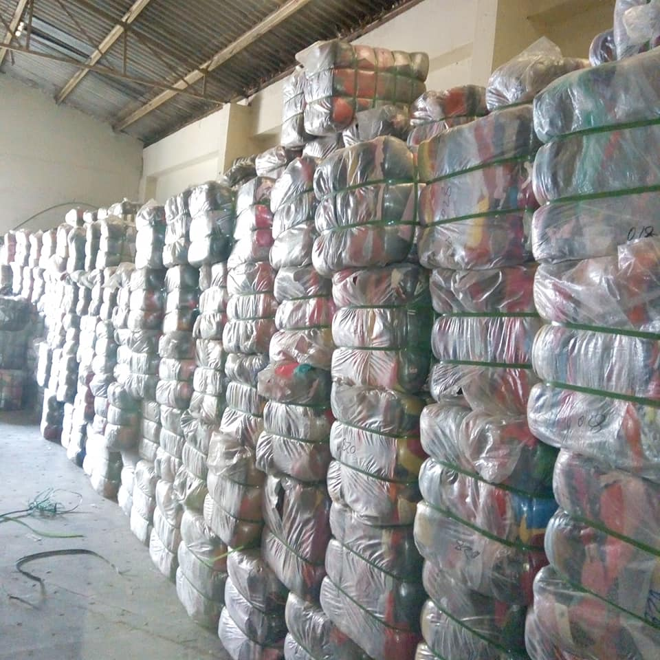 Bales of Second-hand clothes inward bound for Gikomba Market