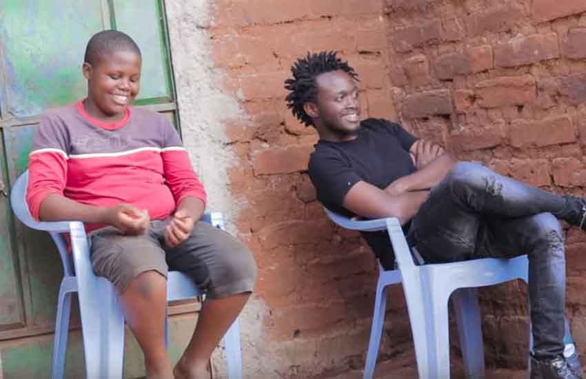 Bahati finally settles differences with step-mum and younger brother (Video)
