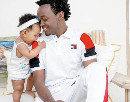 Boss baby! This is how baby Heaven refers to her daddy, Bahati