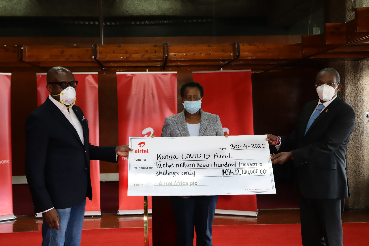 Airtel Africa plc employees based in Nairobi contribute towards Government's COVID-19 Initiatives